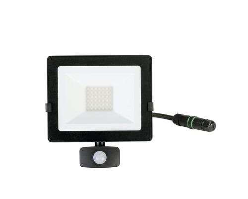 Capteur projecteur LED IP54 30W 2400lm 4000K blanc neutre h 222mm noir