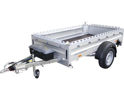 Remorque à un essieu Humbaur Alumaster multitalent 2510x1310x400mm freinée avec roue jockey de remorque, amortisseurs de roue et boîte à outils (vrac) poids total adm. 1300kg