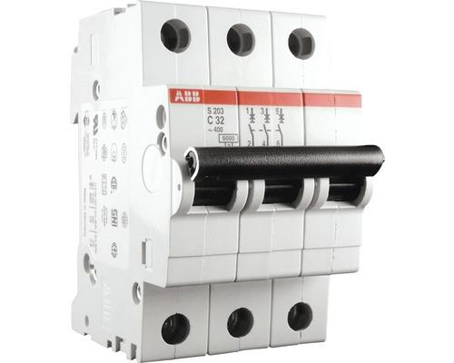 Disjoncteur automatique S203-C32 32A C 3 pôles