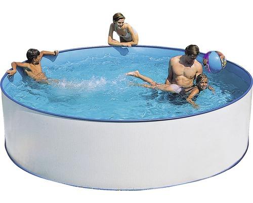 Kit de piscine à paroi en acier Ø 350cm, hauteur 90cm