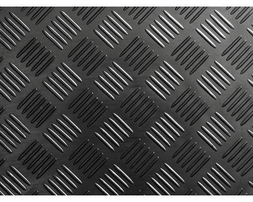 Tapis en caoutchouc effet tôle gaufrée, largeur 100 cm (par mètre)
