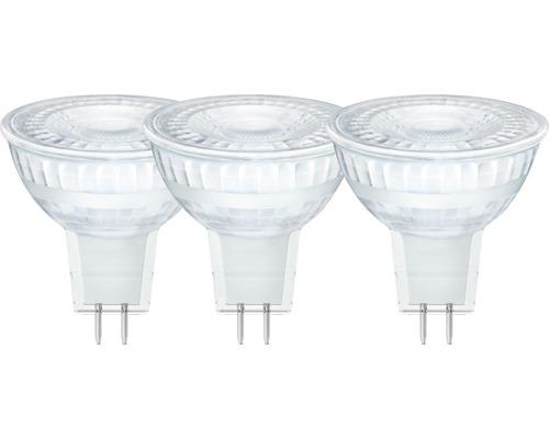 3x ampoules à réflecteur LED GU5.3/5,5W(35W) 345 lm 2700 K blanc chaud 3 unités