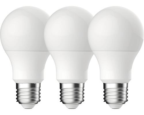 3 x ampoules LED A60 blanc E27/10,2W(75W) 1055 lm 2700 K blanc chaud 3 unités