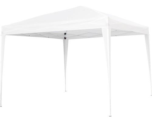 Pavillon pliant 3x3 m polyester blanc