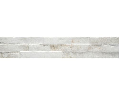 Pierre de parement en grès cérame fin Bologna blanc 8x44,5cm