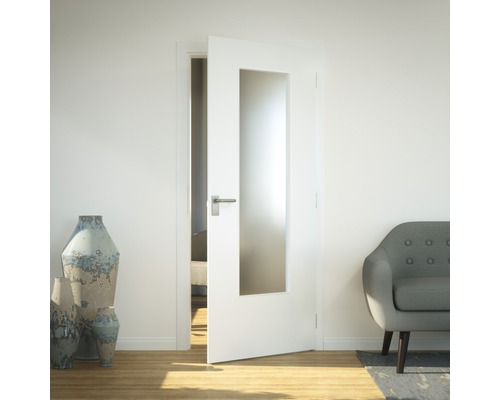 Vitrage de porte verre de sécurité LAG3 Listral D 41x142 cm
