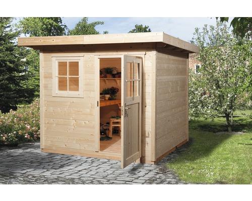 Abri de jardin weka 170 taille 2 avec plancher 235x240 cm naturel