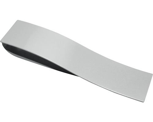 Barrette torsadée Indira aspect acier inoxydable 13x3 cm