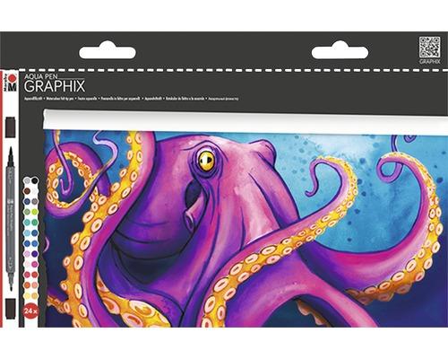 Feutres aquarelle Marabu Aqua Pen Graphix Octopy
