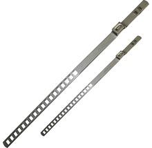 Bande perforée à borne 25x50 mm acier inoxydable 1.4301, 10 pièces-thumb-0