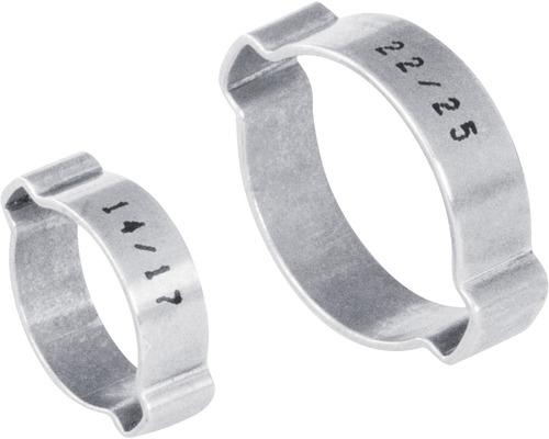 Pince à 2oreilles en continu 7x9 mm acier inoxydable DIN 1.4301, 100 pièces