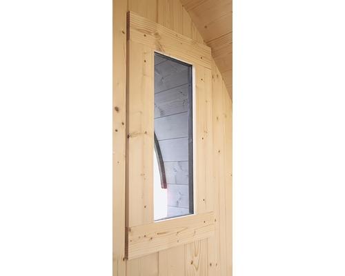 Fenêtre Karibu pour sauna tonneau