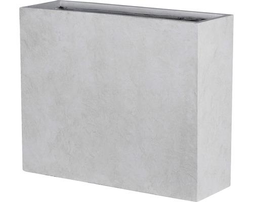 Cloison de séparation Liverpool 100 x 35 x 80 cm gris clair
