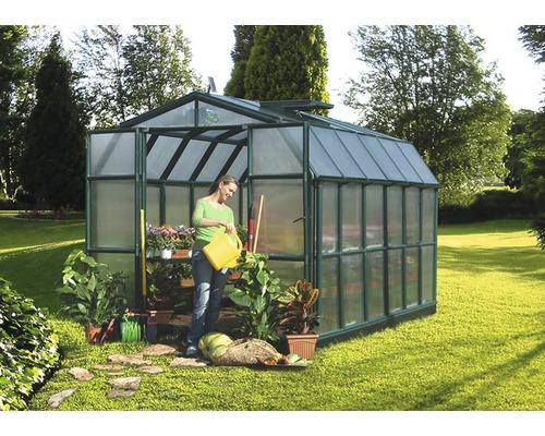 Serre RION Grand Gardener 46 panneaux alvéolés 6 mm 267x389 cm vert