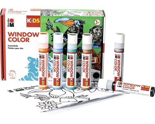 Marabu Kids Kit Window Color Jungle 6 pièces