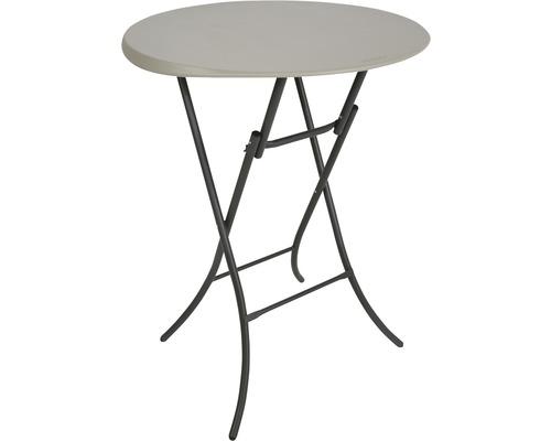 Table haute Lifetime plastique Ø 84 x H 110 cm