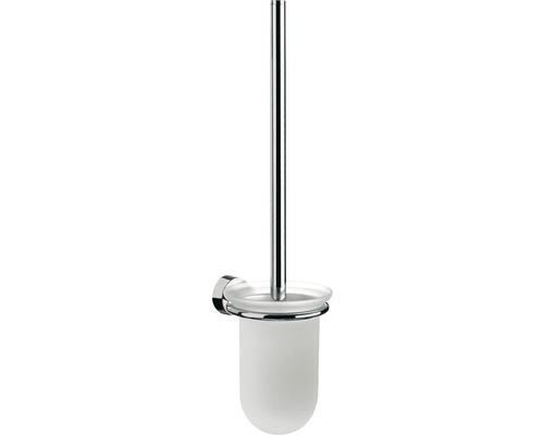 Brosse WC Emco Rondo 2 chrome/verre en cristal satiné 451500101