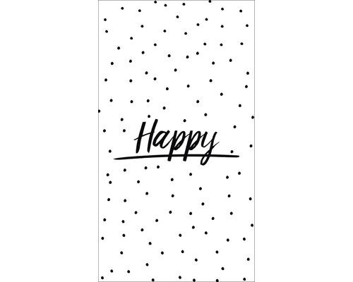 Panneau décoratif Happy 15x30 cm