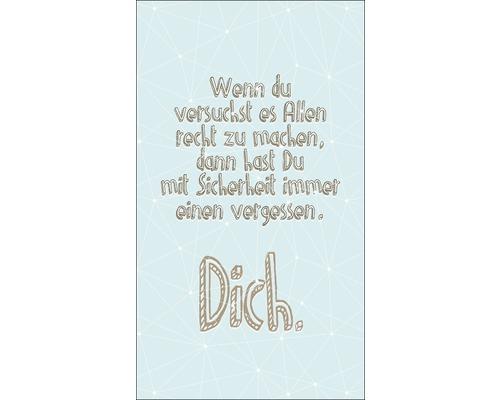 Panneau décoratif Your Slogan 15x30 cm