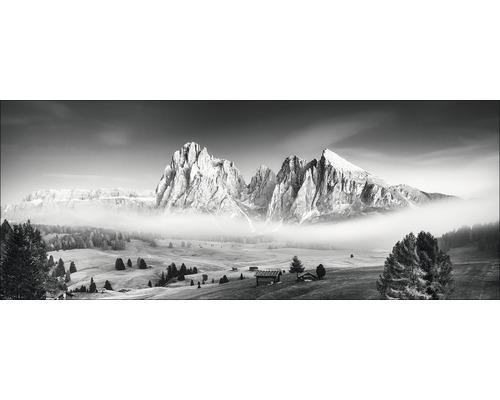 Tableau en verre Mist & Mountain 50x125 cm