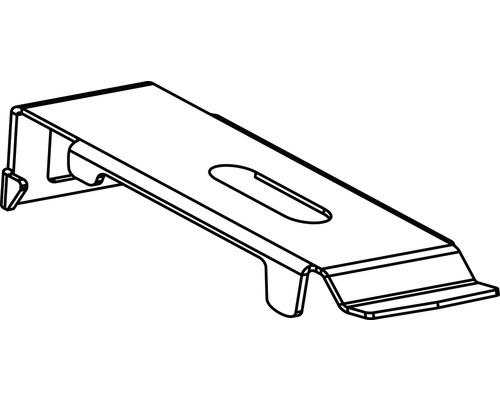 Support pour profilé de montage en aluminium blanc