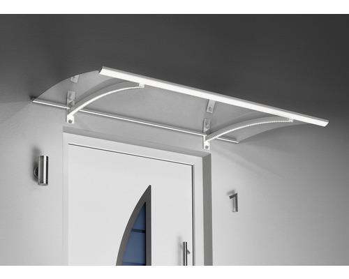 Verrière Gutta avec LED 150x90cm blanche avec couverture en verre acrylique clair