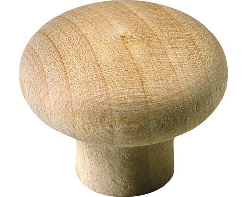 Bouton de meuble en bois hêtre/brut Øxh 34/26mm-0