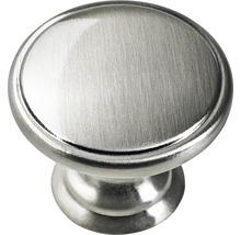 Bouton de meuble en zinc moulé sous pression acier inoxydable Øxh 32x29 mm-thumb-0