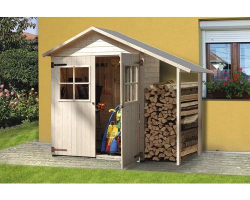Remise à outils weka Expresshaus 357 avec plancher et toit en appentis 224x85cm, nature
