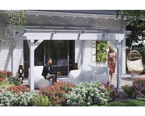 Toiture pour terrasses Sanremo, 434x250cm, blanc
