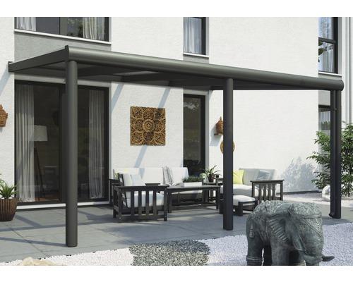 Toiture pour terrasses Garda, 434x257 cm, aluminium, anthracite