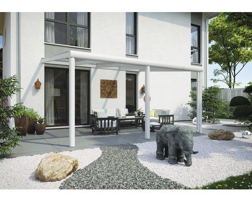 Toiture pour terrasse Garda, 434x257 cm, aluminium, blanc - HORNBACH Luxembourg