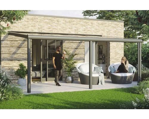 Toiture pour terrasses Garda, 541x357 cm, aluminium, anthracite - HORNBACH Luxembourg