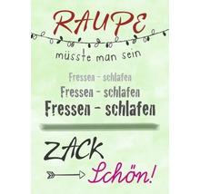 Carte postale Raupe Zack schön! 14.8x10.5 cm-thumb-0