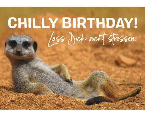 Carte postale Chilly Birthday! 10.5x14.8 cm