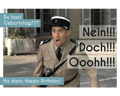 Carte postale d''anniversaire Nein!!! Doch!!! Ooohh!!! 10,5x14,8 cm