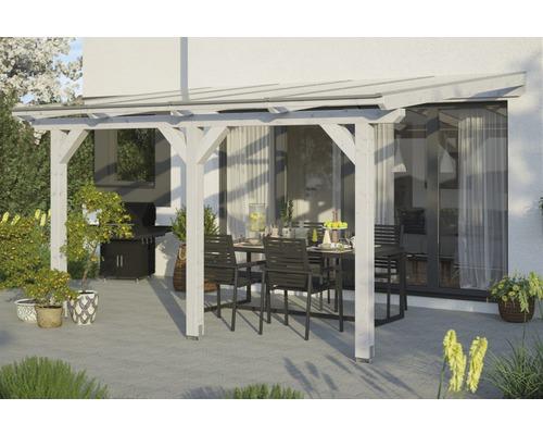 Toiture pour terrasses Andria, 434x250 cm, blanc