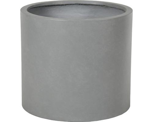 Bac à plantes Lafiora Emil pierre artificielle Ø37 H33cm gris clair