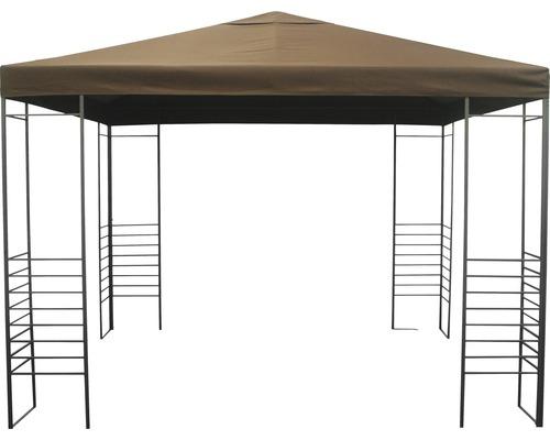 Pavillon Design, 3x3x2,55 m polyester rouge brun