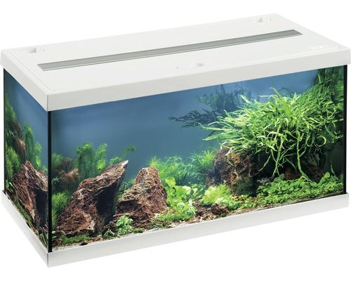 Aquarium EHEIM aquastar 54 avec éclairage à LED, filtre intérieur, chauffage, thermomètre sans meuble bas, blanc