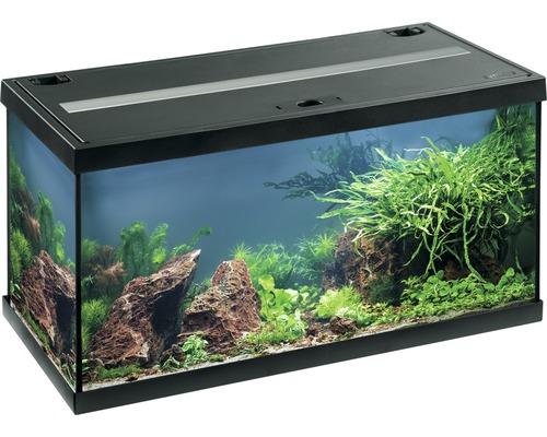 Aquarium EHEIM aquastar 54 avec éclairage à LED, filtre intérieur, chauffage, thermomètre sans meuble bas, noir