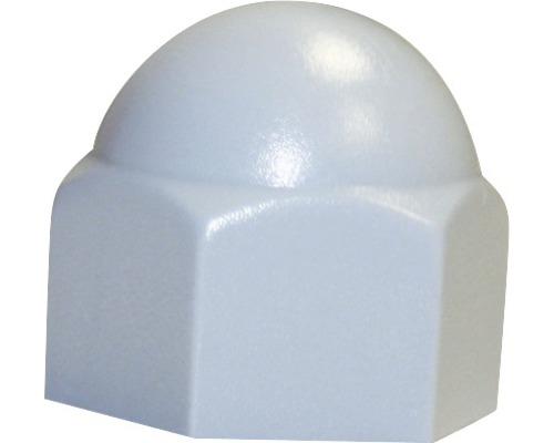 Cache pour vis six pans carré 5 mm blanc, 50 unités