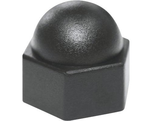 Cache pour vis six pans carré 12 mm noir, 50 unités