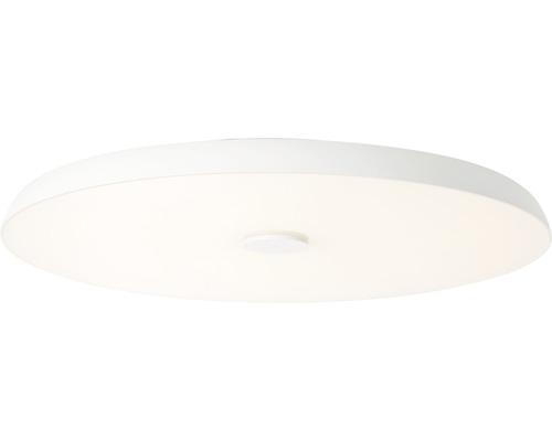 Plafonnier à LED AEG IP20 1x72W 6800L 3000-6000K blanc chaud - blanc lumière du jour hxØ78x600mm Adora blanc avec haut-parleur rétroéclairage RVB, fonction de veilleuse et télécommande