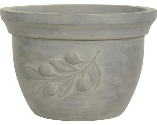 Pot de fleurs Lafiora Olive Terracotta Ø 46 cm H 32 cm gris