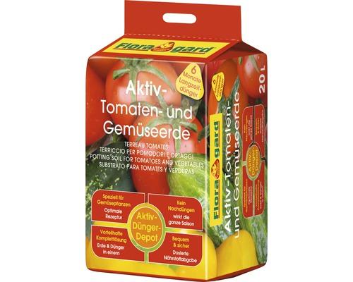 Terreau pour tomates et légumes Floragard Aktiv, 20 L