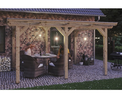 Toiture pour terrasses Siena 434x250 cm, naturel