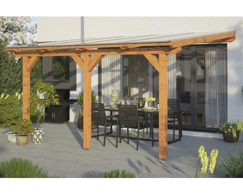 Toiture pour terrasses Skanholz Andria 434 x 250 cm, chêne clair