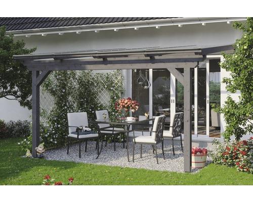Toiture pour terrasses Skanholz Ancona 434 x 250 cm, gris ardoise