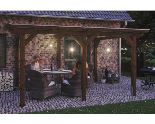 Toiture pour terrasses Skanholz Siena 434 x 250 cm, noyer